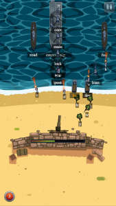 Defend the Beach HTML5 typing game