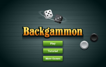 Backgammon Board Game HTML5