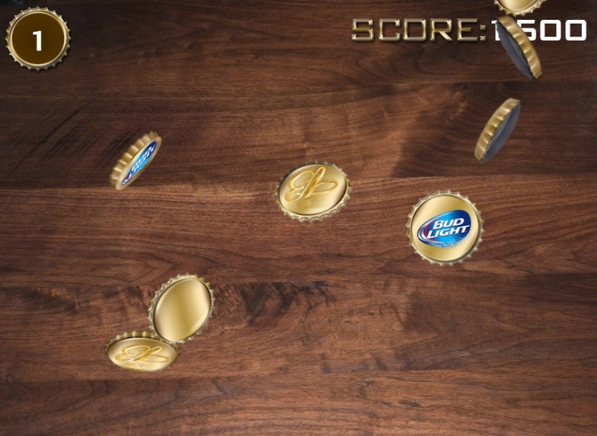 Budlight Beer Bottle Cap Game
