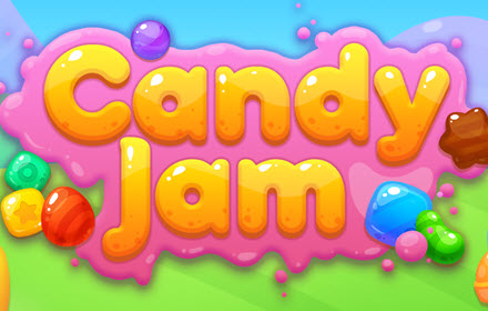Candy Jam HTML5 game title banner