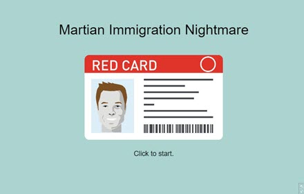 Martian Immigration Nightmare HTML5 Game title